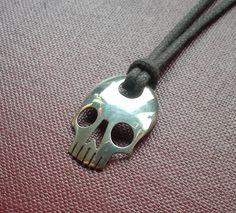 Silver Skull Spoon Pendant by JackDoeJewellery on Etsy 7 9 8 8 9 Fork Art, Spoon Art, Metal Art Projects, Metal Crafts, Fork Jewelry, Metal Jewelry, Jewelry Crafts, Jewelry Art, Jewellery