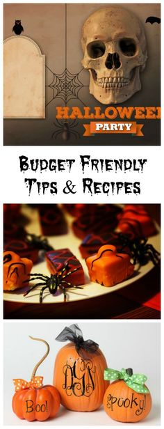 These budget friendly Halloween party tips and recipes will help to make your party one that won't break the bank.