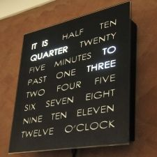 Clocks for Typography Lovers, need this for my house!
