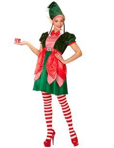 e1af298d5ba Déguisement assistante lutin femme Noël   Ce déguisement d assistante lutin  pour femme comporte une