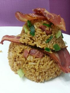 PAGODA BACON AND SCALLION FRIED RICE