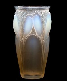 "Rene Lalique ""Ceylan"" vase with traces of patination, engraved R Lalique,  France and model number 905"