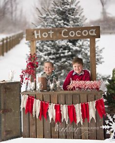 Tricia at Wigglebug Photography did a great job on this pic of my boys...adorable background and Hot Cocoa stand.