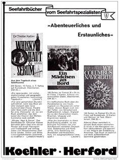 Original-Werbung/ Anzeige 1976 - MARITIME BÜCHER / KOEHLER - HERFORD - ca. 125 x 160 mm