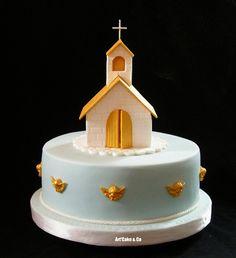 First communion cake Cupcakes, Cupcake Cakes, Christian Cakes, Sheet Cake Designs, Religious Cakes, Confirmation Cakes, First Communion Cakes, Paris Cakes, Cake Templates