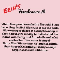 headcanons percy jackson - Google Search WHAT IF SHE IS A REINCARNATION OF BIANCA <<<OH MY GOSH WAY TO MAKE ME CRY