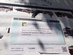 Desvirtualizando el activismo tuitero empapelando la ciudad. El caso #loxaesmas