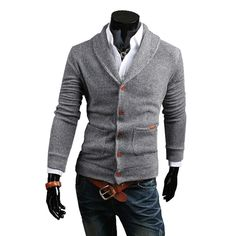 The Distinguishing Feature:  1,Slim Style ,well-match with pants,shorts .  2,Turn-down Collardesign and Solid Color with the Coat,great for the men. Descript