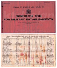 Census of England and Wales 1911. Enumeration Book for Military Establishments. My great grandfather is listed as No. 7 and his rank is Acting Bombardier. This census places him at Aldershot with the Royal Horse Artillery on April 3rd 1911, aged 20.