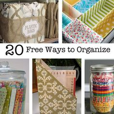 Ever feel like you need to get organized but don't want to spend the money? We've got 20 Free Ways to Organize to help you out!