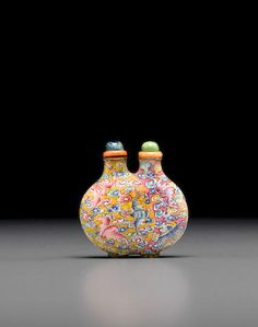 A Canton enameled conjoined copper snuff bottle 1750-1820