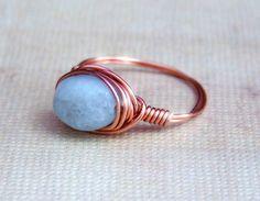 Aquamarine And Copper Ring handmade jewelry | Flickr - Photo Sharing!