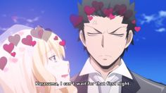Karasuma and Irina. Hahaha! She's getting excited