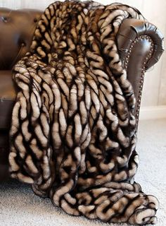 Order your Couture Collection Shadow Mink Faux Fur Throws Today. Luxury faux fur coats, jackets, accessories, throws & more. Fuzzy Blanket, Faux Fur Blanket, Faux Fur Throw, Throw Blankets, Pele Natural, Luxury Throws, Fabulous Furs, Fur Fashion, Couture Collection