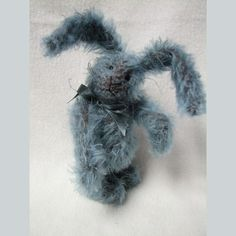 Mohair Vintage Style Artist bunny rabbit By Melanie by Melbears Canadian Artists, Hang Tags, Bunny Rabbit, Vintage Fashion, Vintage Style, Handmade, Etsy, Black Glass