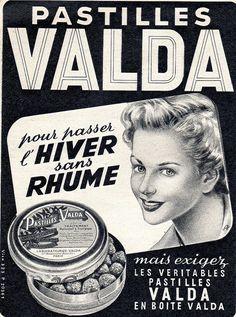 The 1950s-1952 Match-Ad for Valda pills by april-mo, via Flickr……réepinglé par Maurie Daboux۰⋱‿✿╮