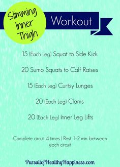 Slimming Inner Thigh Workout