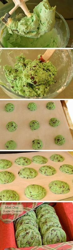 Mint Chocolate Chip Cookies - 17 Coolest St. Patrick's Day Treats | GleamItUp