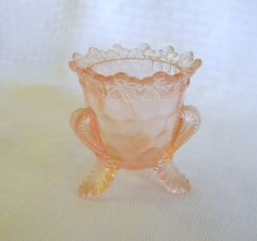 Boyd forget me not pattern pink glass by TreasuresFromTexas, $12.00