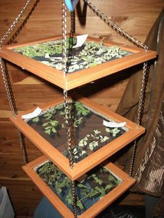Wooden Herb Drying Rack | Herb drying racks, Herbs and Gardens