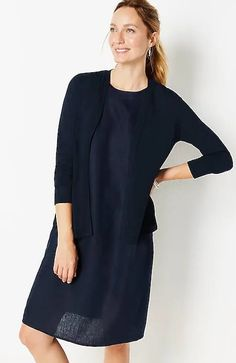 Light Open-Front Cardi | JJill Warm Weather, Cold Shoulder Dress, Long Sleeve, Cardigans, Dresses, Fashion, Vestidos, Moda, Long Dress Patterns