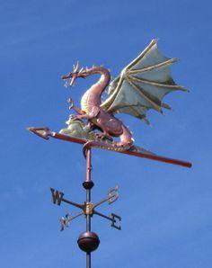 Awesome dragon weathervane.
