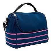 Cynthia Rowley Navy Blue with Pink Stripes Lunch Bag 29922 US | Staples