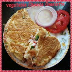 Chinu's Kitchen Corner: Vegetable  Cheese Omelette