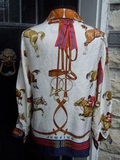 HERMES Paris Stunning Silk Equestrian by worldmarketproductio