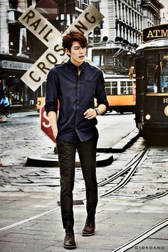 Kim Woo Bin for Giordano Fall 2014