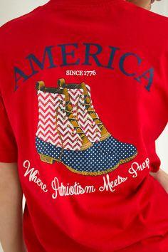 Preppy America Tee | Southern Girl Prep