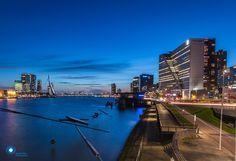 Blue hour in Rotterdam by Ilya Korzelius