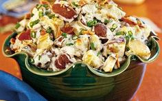 Roasted New Potato Salad - 17 Tasty Potato Salad Recipes - Southernliving. If you like your potatoes crispier, bake about 10 minutes longer, stirring once. Recipe: Roasted New Potato Salad Bacon Ranch Potato Salad, Roasted Potato Salads, Bacon Ranch Potatoes, Roasted Bacon, Roasted Potatoes, Side Dish Recipes, Side Dishes, Southern Style Potato Salad, Soup And Salad