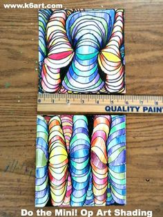 Art projects the mini project measures 6 allow 2 3 40 minute sessions op High School Art, Middle School Art, Art Lessons Elementary, Upper Elementary, School Art Projects, Color Pencil Art, Elements Of Art, Art Classroom, Art Plastique