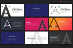Over 80 typography templates of letter A are provided. You can use it to explain the core values of your project or your company. It is also possible to explain your philosophy, SWOT Analysis, AIDA Model, PESTEL model and more. Analysis solution idea, bullet points, company profile, creative portfolio, digital social marketing, finance, minimal design, mission and vision, philosophy , problem statement, Project Introduction, services, stage phase, timeline history, workflow process Problem Statement, Powerpoint Themes, Swot Analysis, Typography, Lettering, Creative Portfolio, Core Values, Competitor Analysis, Company Profile