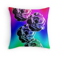Rosey bright cushions