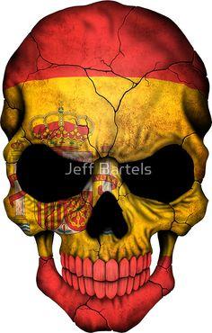 Spanish Flag Skull Spanish Flags, Phoenician, The Golden Years, Flag Logo, Ms Gs, Punisher, Wonders Of The World, Spiderman, Skull
