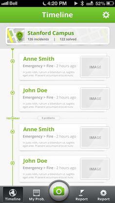 iOS timeline app by Mihnea Zamfir, via Behance