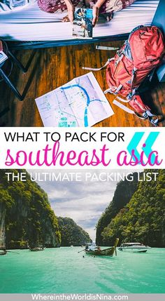 Backpacking Southeast Asia Packing List: Literally Everything You Need! Nylon Anti-theft Water-resistant Backpack, with stylish and chic design, goes well with any occasions, you will feel comfortable to carry it. Backpacking Packing List, Packing Tips, Outfits For Backpacking, Camping Checklist, Travel Packing, Camping Gear, Thailand, Asia Travel, Travel Tips