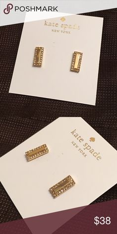 ❗️1 HOUR SALE❗️NWT Kate Spade Earrings Brand new with tags Kate Spade earrings with crystals in Gold color. Comes with dust bag. No trades kate spade Jewelry Earrings