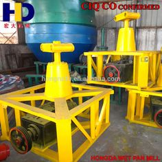 Off The Shelf Factory Product Stone Grinding Wet Pan Mill Machine For Gold Ore