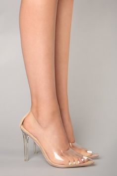 In The Clear Pump - Transparent Source by cyanet Heels Pumps, High Heels Stilettos, Pump Shoes, Stiletto Heels, Cheap Heels, Frauen In High Heels, Clear Shoes, Clear High Heels, Transparent Heels