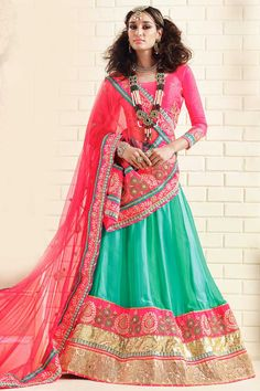 Pink Art Silk Semi Stictch Lehenga Choli Price:$204.46  Pink art silk semi stictch lehenga choli. Embellished with embroidered, resham, zari and stone. It is perfect for festival wear, wedding wear and party wear. Unstitched blouse http://www.andaazfashion.com/womens/lehenga-choli/pink-art-silk-semi-stictch-lehenga-choli-dmv8698.html