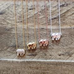 """Add Ivory Ella to any outfit with one of our charm necklaces! 16"""" max. length Brass charm PORTION OF EACH SALE GOES DIRECTLY TO SAVETHEELEPHANTS.ORG"""