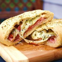 Stromboli – a very tasty addition to your Super Bowl spread!