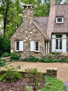 Stone house—the words just conjure up visions of charming English country cottage homes. I love stone cottages, walls, gardens, paths—they make m… Stone Exterior Houses, Cottage Exterior, Stone Houses, Stone Home Exteriors, House Exteriors, Cottage Design, Cottage Style, House Design, Cottage Chic