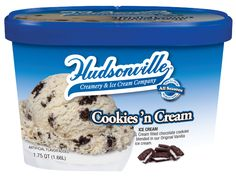 Cookies 'n Cream- Cream filled chocolate cookies blended in our original vanilla flavored ice cream