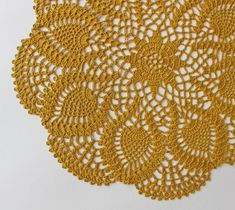 Round hand crochet doily is made using 100% golden orchid color linen yarns. This doily is a perfect addition to your table, room decor, or can be a really nice gift! Diameter is about 13,78 (35cm). If you have any questions please contact me. All my items are made in a pet-free and