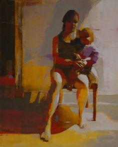 "Saatchi Art Artist Mark Horst; Painting, ""mother and child"" #art"