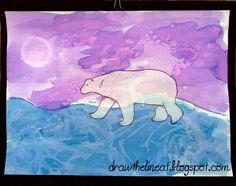 polar bear painting